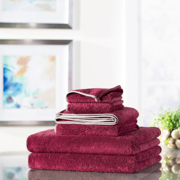 Steen 6 Piece 100% Cotton Towel Set by The Twillery Co.